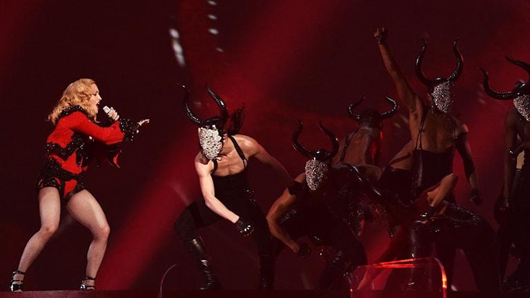 Madonna på Grammy Awards i februari. Foto: John Shearer/Invision/AP/TT.
