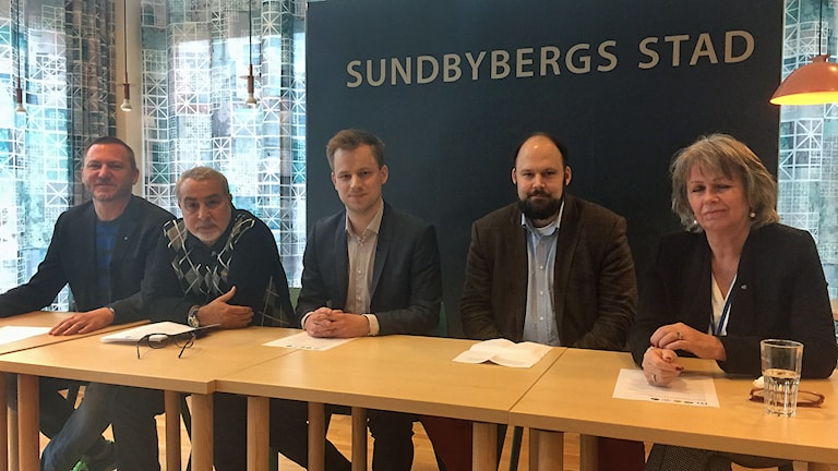 Ny politisk ledning i Sundbyberg. Foto: Cecilia Ingvarsson/Sveriges Radio