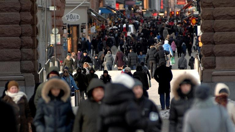 Gatuliv i centrala Stockholm (arkivbild). Foto: Hasse Holmberg/Sveriges Radio