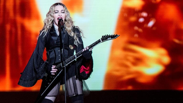 Madonna på Tele2 Arena i går kväll. Foto: Christine Olsson/TT