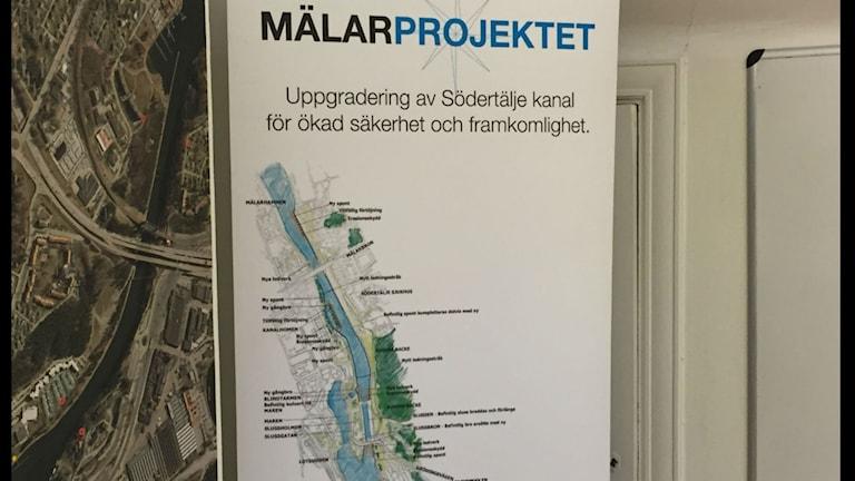 Sjöfratsverkets Mälarprojekt är kritiserat av Södertälje kommun. Foto: Peter Lindberg Sveriges Radio