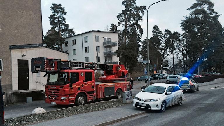 Anlagd brand Hökarängen