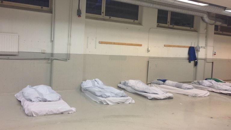 När det är -7 eller kallare i Stockholm öppnas 25 extra sängplatser upp. Foto: Cecilia Ingvarsson/SR