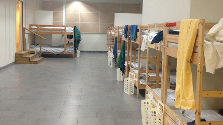 Det finns 20 ordinarie sängplatser på Vinternatt. Foto: Cecilia Ingvarsson/SR