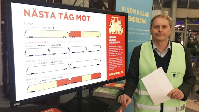 Ny app ska hjälpa pendeltågsresenärer. Foto: Anders Ohlsson/SR