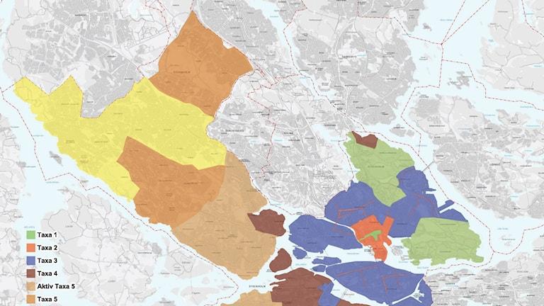 Stockholms nya parkeringskarta över norra Stockholm