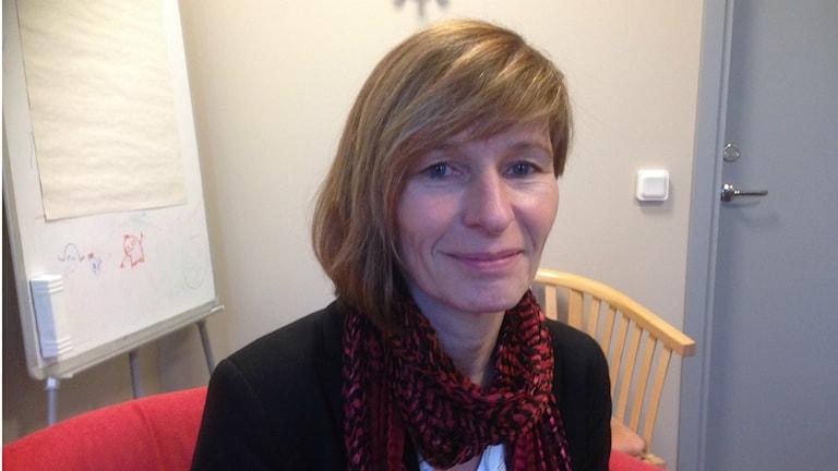 Annika Rådström, enhetschef på socialkontoret i Södertälje. Foto: Ulf Bungerfeldt, P4 Stockholm