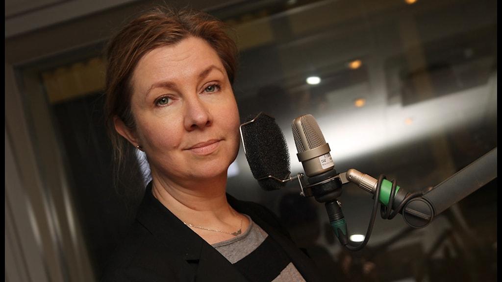 Maria Doverborg Broman i P4 Stockholm. Foto: Helen Ling /Sveriges Radio.