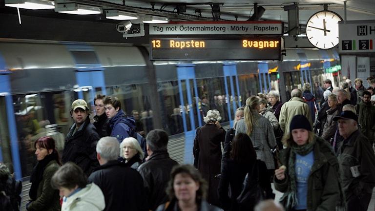 Stockholms tunnelbana. Foto: Fredrik Sandberg/TT