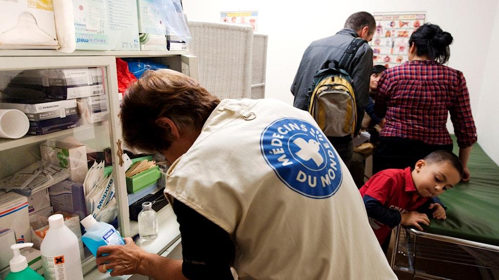 Internationella hjälporganisationen Läkare i världen ger vård till papperslösa i Stockholm. Foto: Henrik Montgomery/TT