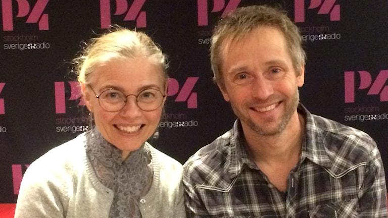 The Real Group fortsätter arbetet med sin musik. Foto: Alexander Hammarlöf/Sveriges Radio.