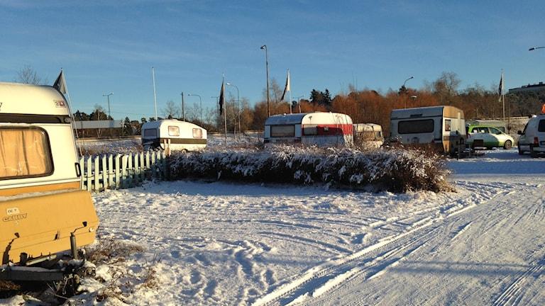 Campingen vid Solvalla. Foto: Lina Lund/SR.