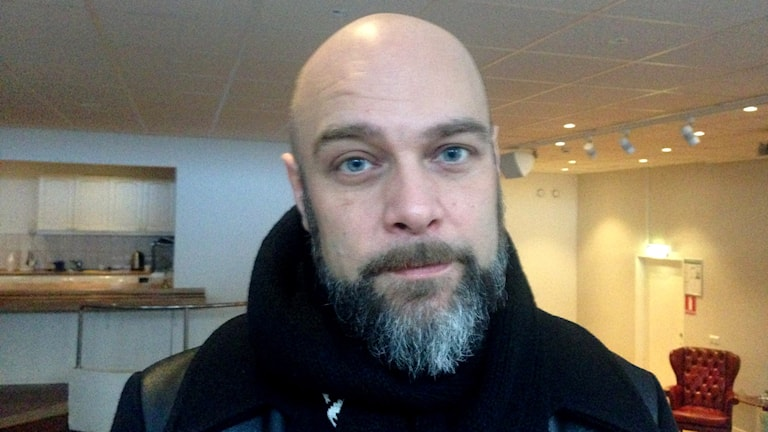 Magnus Helmner, samordnare hos Stockholm stad. Foto: Cecilia Ingvarsson/SR.