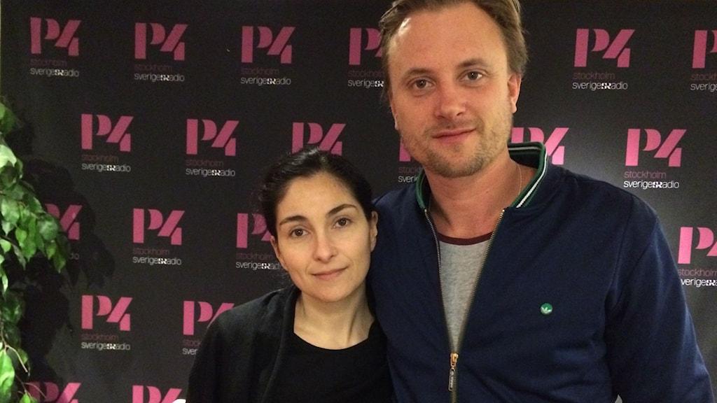 Meliz Karlge och Andreas Blom Foto: Pablo Paez/Sveriges Radio