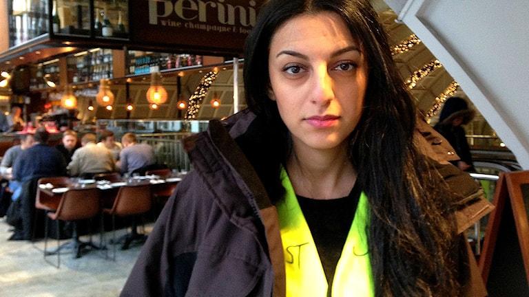 Dona Hariri, initiativtagare till gruppen Jurister på Stockholms central. Foto: Johanna Sjöqvist Harland/Sveriges Radio
