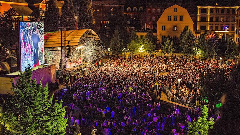 Festival i Kungsträdgården. Foto: Creative Commons.