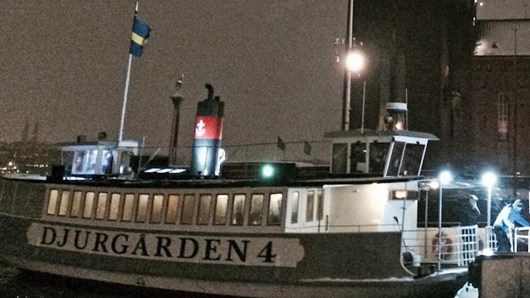 Tididgt i morse kastade Djurgården 4 loss på nya linje 85 över Riddarfjärden. Foto: Anders Hildemar Ohlsson/Sveriges Radio