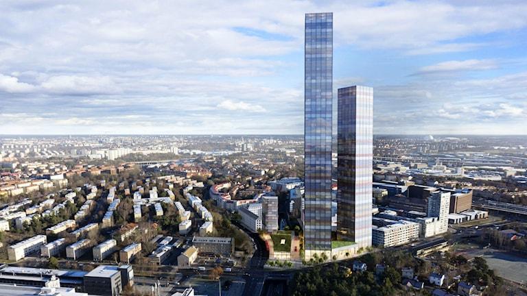 Planer på skyskrapor vid Telefonplan. Foto: SSM fastigheter