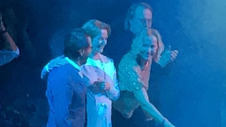 ABBA återförenas på Tyrols scen. Foto: Niklas Långström/TT