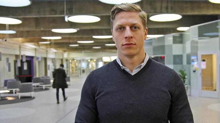 Petter Menning, kanotist. Foto: Helen Ling/Sveriges Radio.