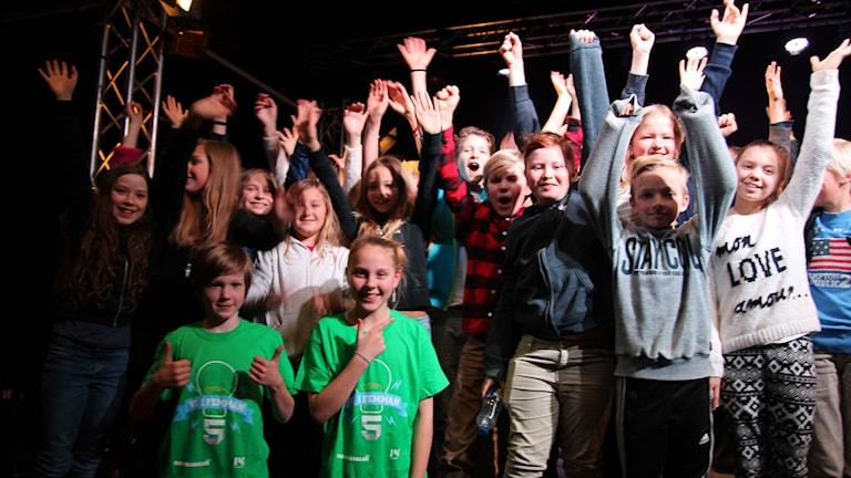 Smedslättsskolan vann den tredje kvartsfinalen. Foto: Peggy Hamberg/Sveriges Radio