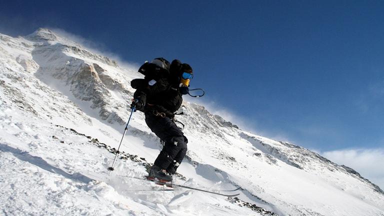 Martin Letzter på väg ner från Mount Everest. Foto: privat