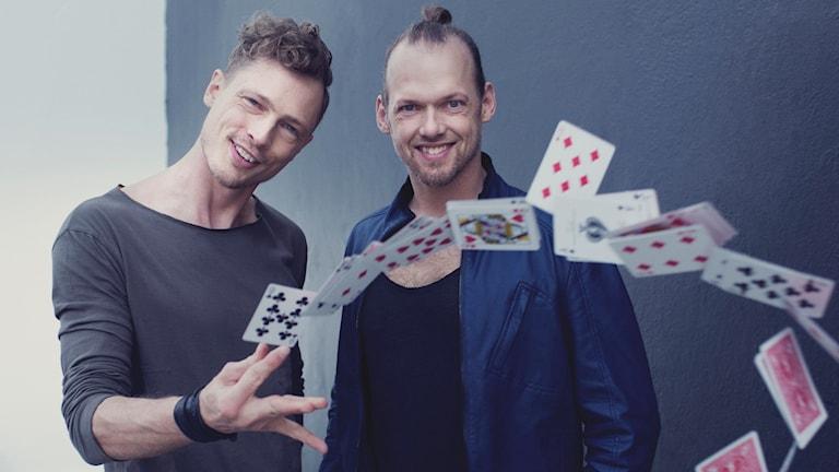 Trollkarlarna Peter Brynolf och Jonas Ljung.
