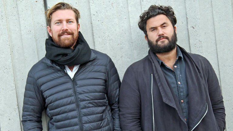 Kirurgerna Sayid Zommorodi och Karl Sörelius i P4 Stockholm. Foto: Helen Ling /Sveriges Radio.