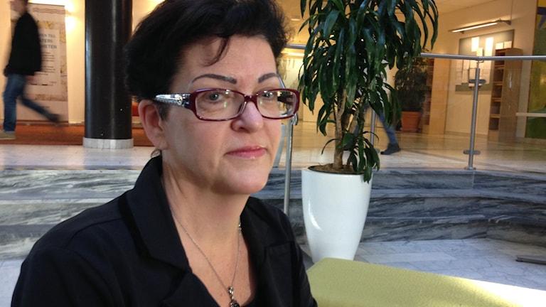 Avdelningschef Maria Porshage på socialförvaltningen i Haninge. Foto: Ulf Bungerfeldt, P4 Stockholm