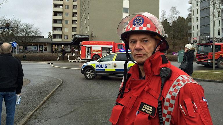 Räddningsledare Mats Körner. Foto: Sveriges Radio.