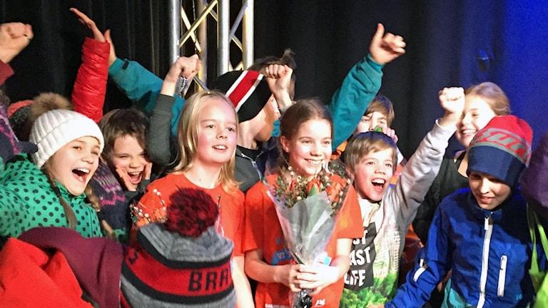 Herrängens skola vinner länsfinalen Foto: Jessica Widing / Sveriges radio