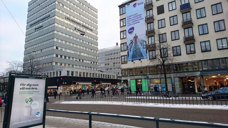 Bild på nya blodcentralen vid Odenplan utifrån. Foto: Ingrid Engström / Blodcentralen