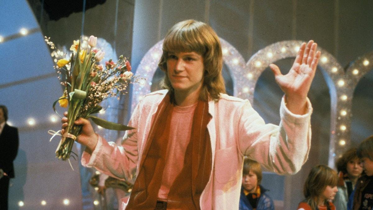Bild på Ted Gärdestad från Melodifestivalen 1979 Foto: Olle Lindeborg / TT