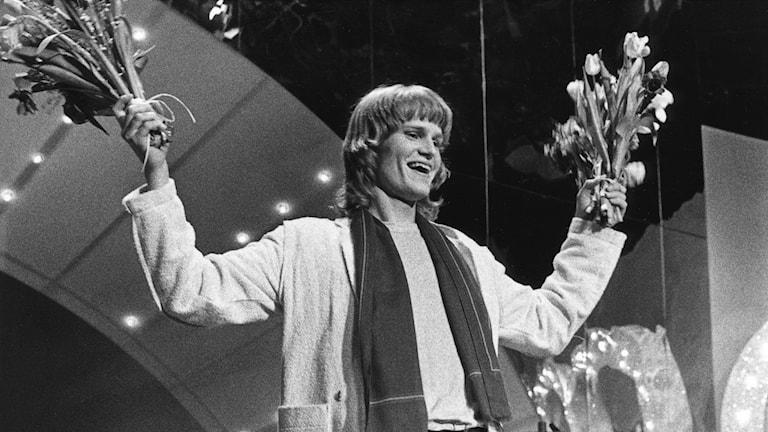 Ted Gärdestad vinner Melodifestivalen 1979 Foto: Ragnhild Haarstad / TT
