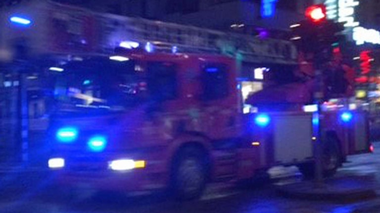 Brandbil på utryckning (arkivbild).