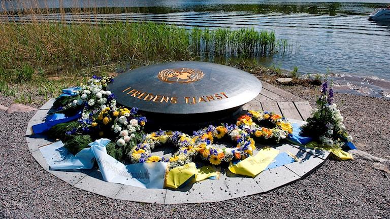 FN monumentet vid Sjöhistoriska Museet