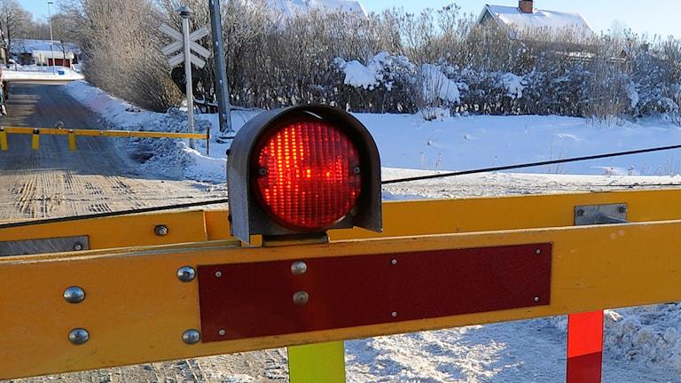 Järnvägsövergång (arkivbild).