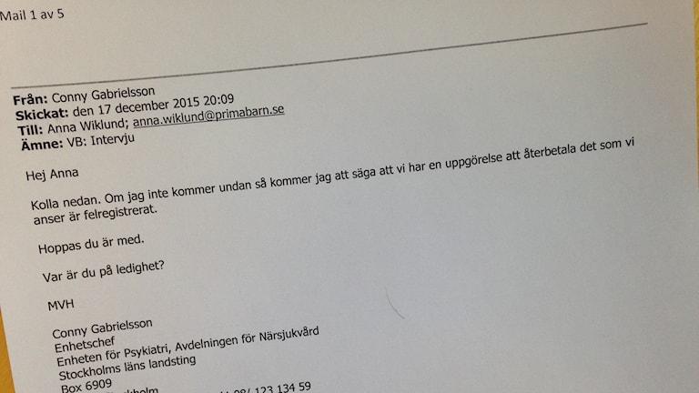 När P4 Stockholm frågar landstinget om intervju skickas det direkt till Primas vd.