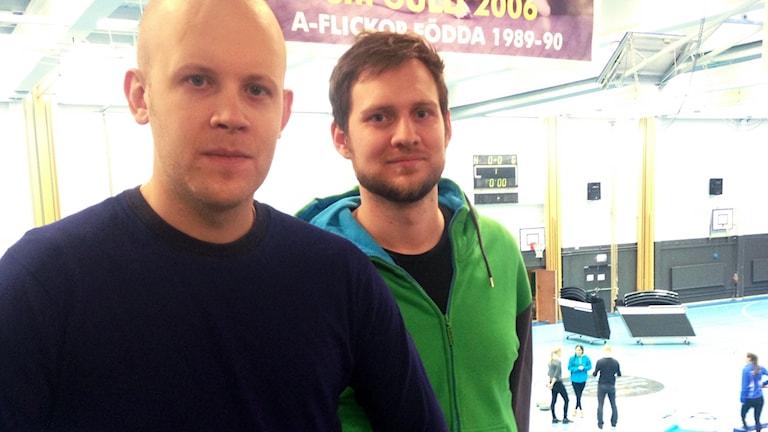 Carl Sandin från Botkyrka kommun och Jens Johansson, Korpen