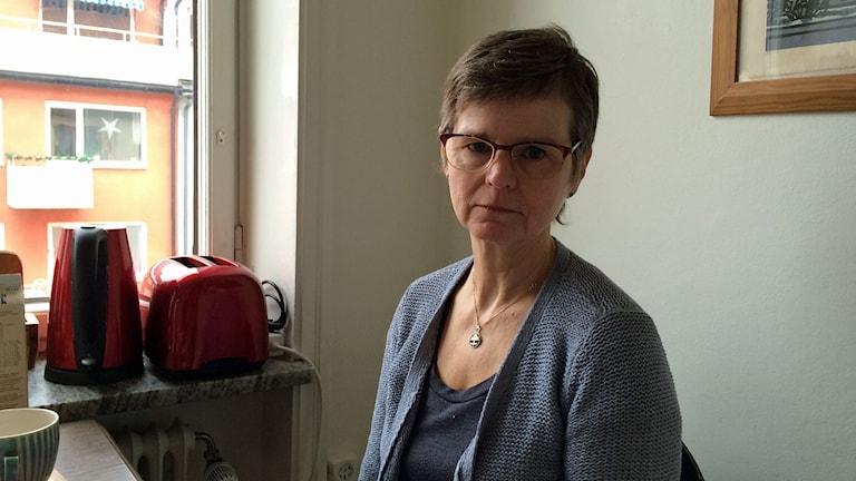 Lilleba Anckers, barnmorska och förtroendevald för Vårdförbundet.