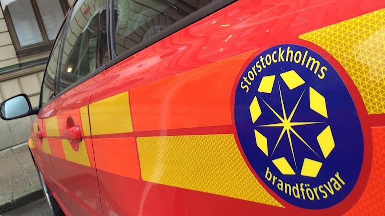 Brandbil vid Storstockholms brandförsvar (arkivbild).