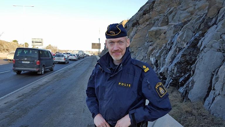 Polis Mikael Gelius om Essingeleden
