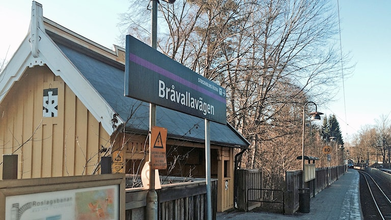Bråvallavägen på Roslagsbanan