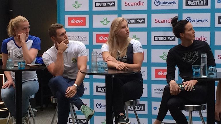 Sim-stjärnorna Sarah Sjöström, Cameron Van Der Burgh, Ruta Meiltyte och Terese Alshammar