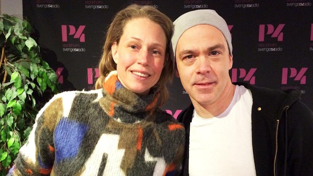 Skådespelaren Sanna Krepper och Olof Hanson konstnärlig ledare för Kulturhuset Stadsteatern i Vällingby.