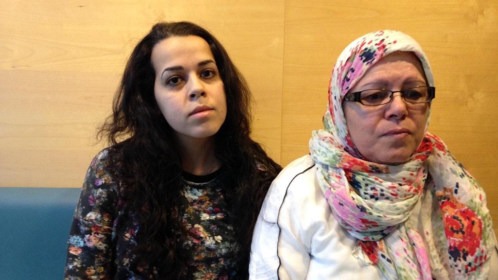 Nadia Ahmed och Fatima Ismail.