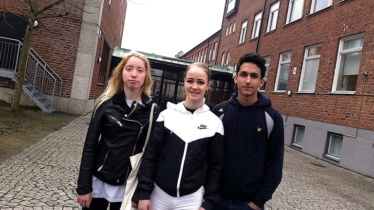 Felicia Pålsson Magnusson, Mimmi Lifvendahl & Emilios Kousis är elever på Häggviksskolan.