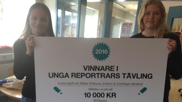 Lovisa Kjell och Hildur Eriksson, årskurs 8, Lemshaga Akademi