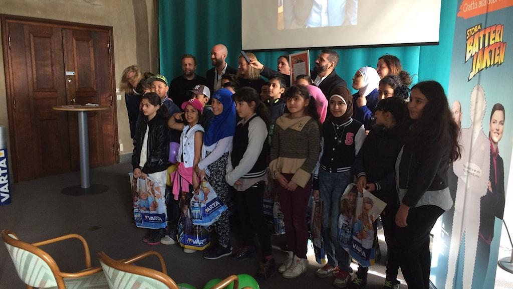 Den vinnande klassen, klass 4 från Alla Nationers Fria Skola från Skärholmen