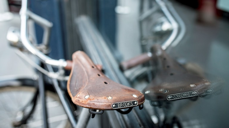 Sliten cykelsadel